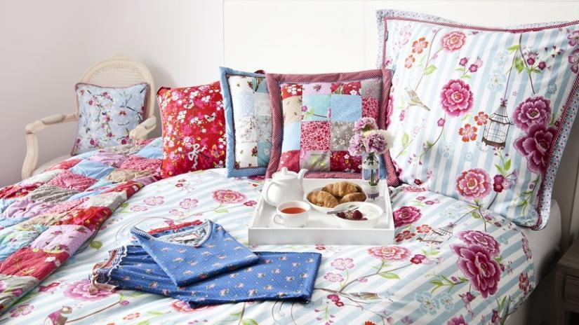 narzuta patchwork do sypialni