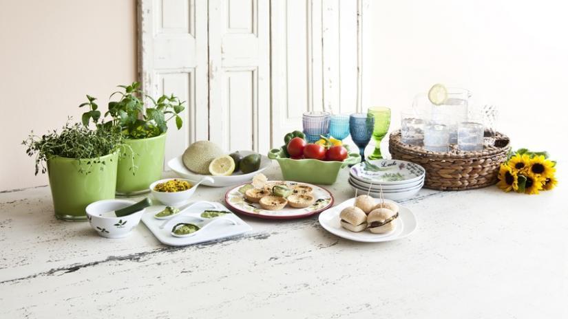 doniczki ceramiczne zielone