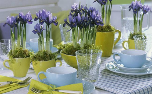 Wiosenne nakrycie stołu
