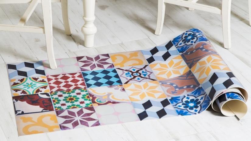 patchworkowy dywan do kuchni