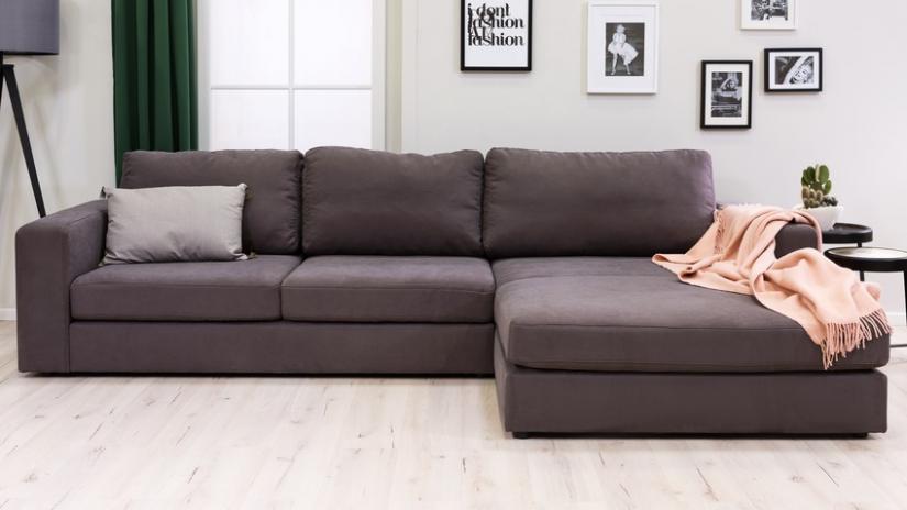sofa modułowa brązowa