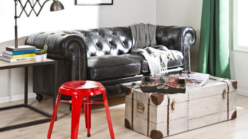 sofa dwuosobowa biała skórzana
