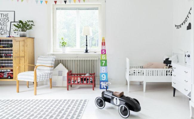 Białe wnętrza dla dzieci