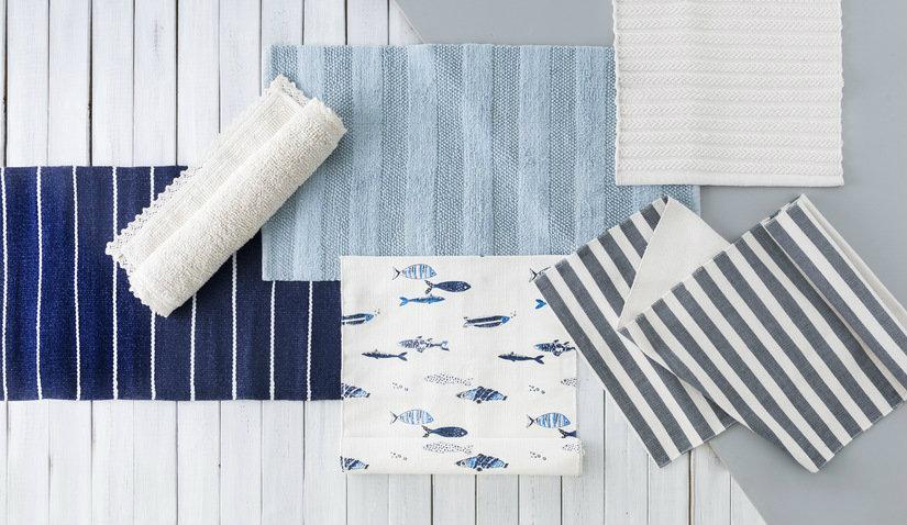 Praktyczne niebieskie dywany bawełniane