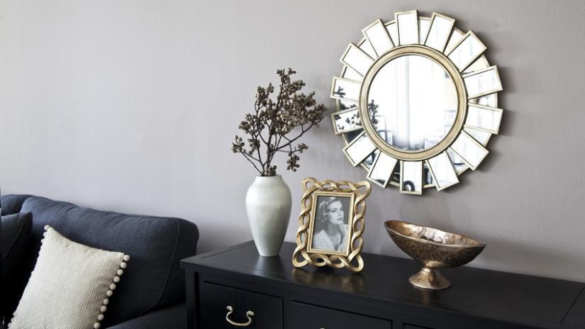 lustro okrągłe pokojowe