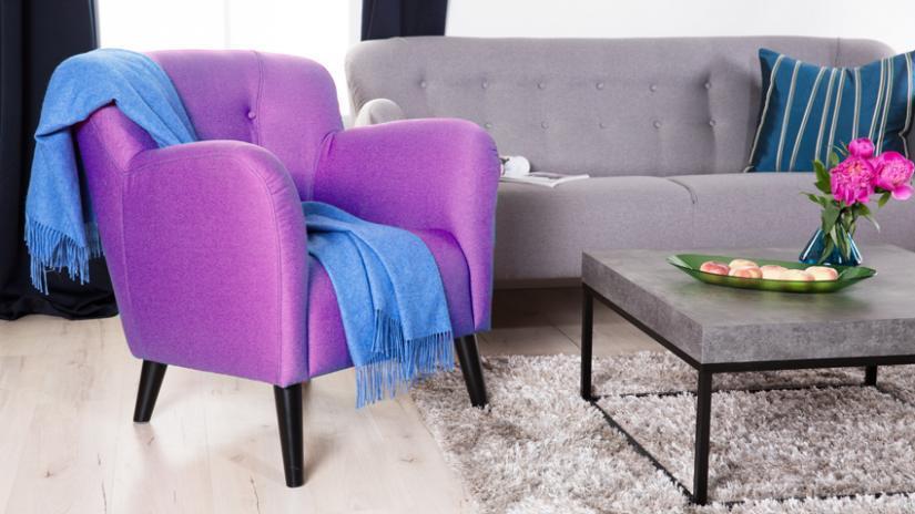 narzuty na fotele niebieskie
