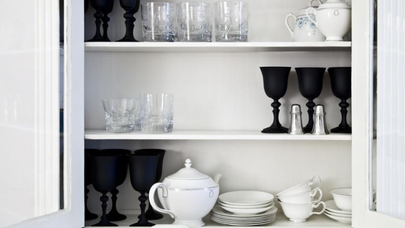 półki kuchenne białe