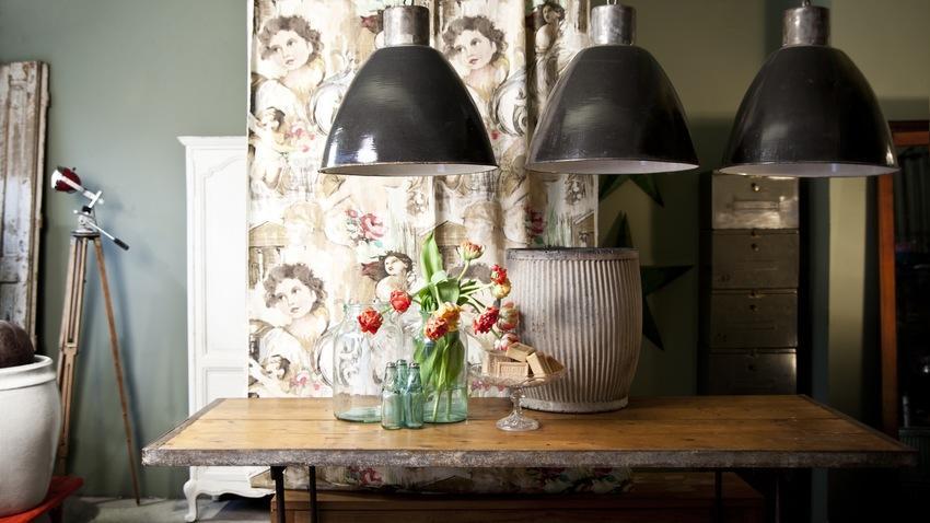 lampy wiszące do kuchni w stylu industrialnym