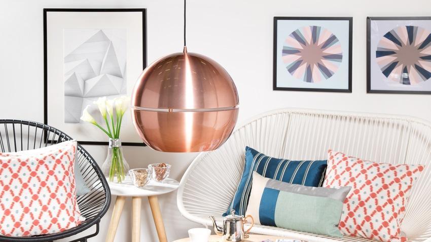 miedziane lampy wiszące do kuchni do zakupu na Westwing