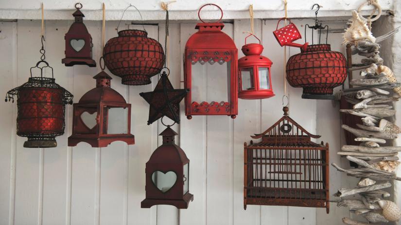 dekoracje na balkon wiszące
