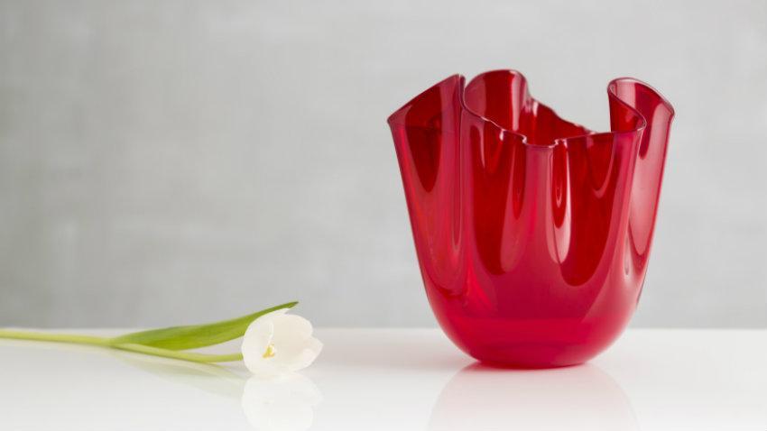 Czerwony wazon