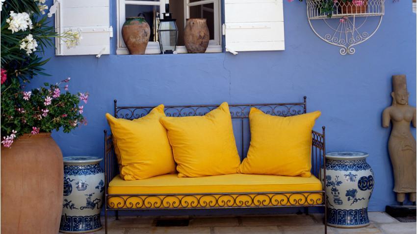 Żółte poduszki