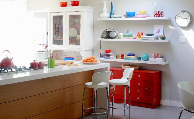 Kuchnia w stylu eko pełna kolorów