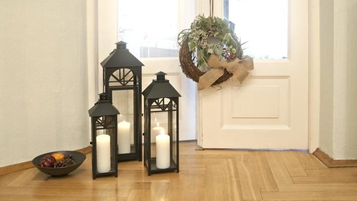 latarenki dekoracje do przedpokoju
