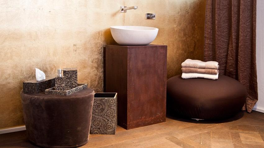 Meble łazienkowe brązowe