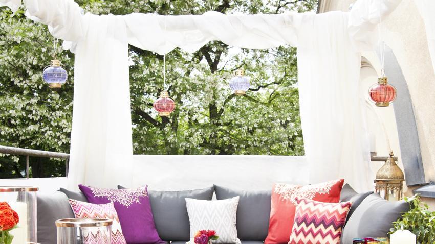 Fotel wiszący ogrodowy w stylu orientalnym