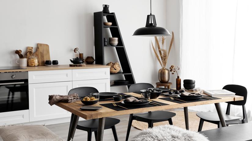 lampy wiszące w kuchni