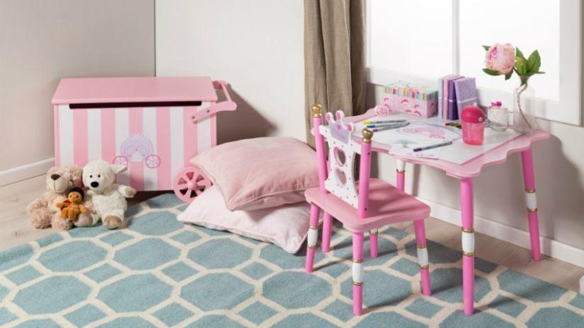 Tyrkysový trendy koberec do izby pre deti
