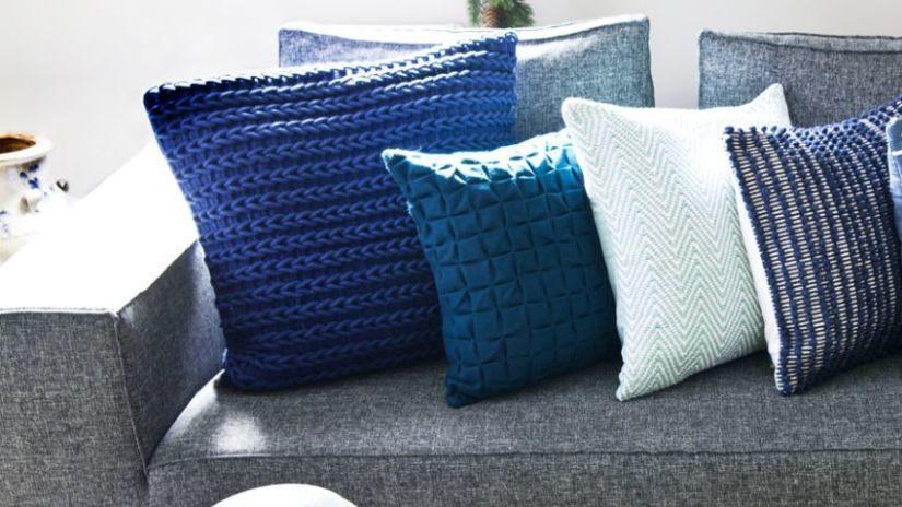 Trendy modré obliečky na vankúše