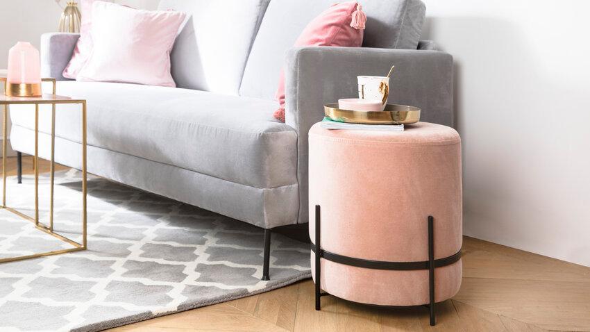 Glamour sivý koberec do obývačky