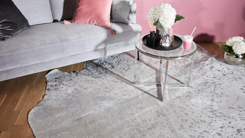 Okrúhly glamour koberec do obývačky