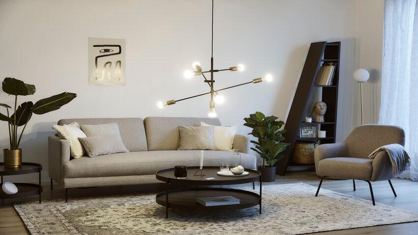 Stropné svietidlo v obývačke