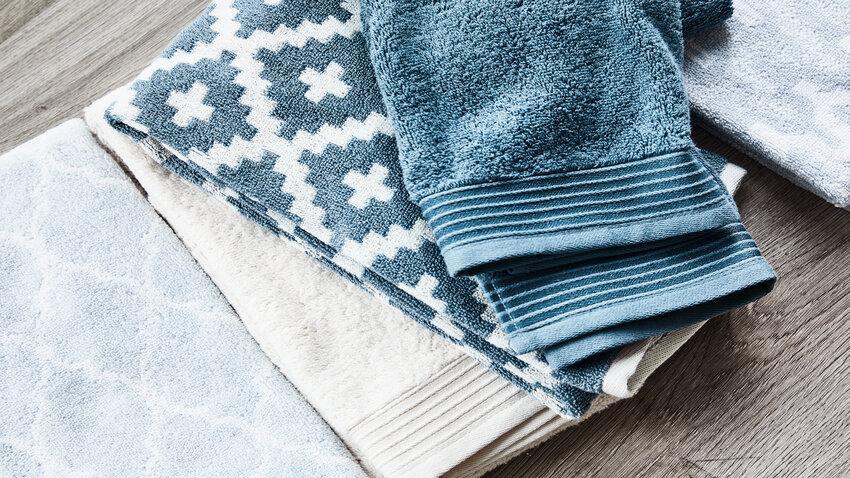Modro-béžové bambusové uteráky