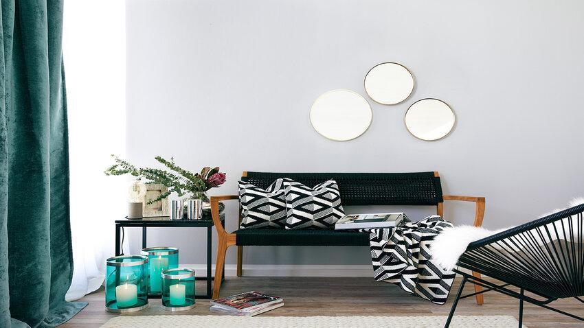 okrúhle jednoduché nástenné zrkadlá