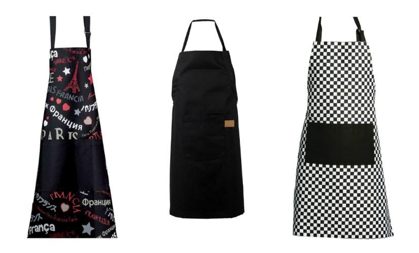 zwart schort Frans klassiek zwart-wit ruit modern strak design