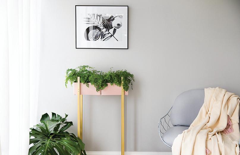DIY : une jolie jardinière d'intérieur en bois