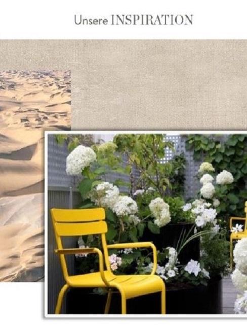 Terrasse neu gestalten Inspiration Farben Pflanzen