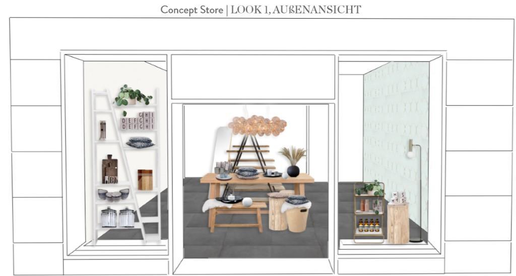 Laden einrichten Vorschlag 1 Eingang