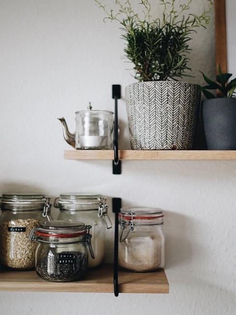 Küchenregal Aufbewahrungsgläser