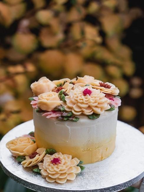 Zitronen Deko Dessert Torte