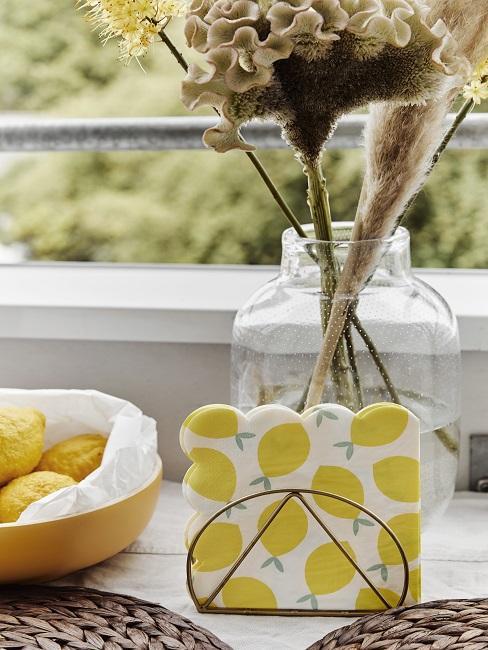 Zitronen Deko Servietten