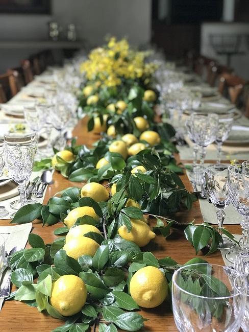 Zitronen Deko Girlande