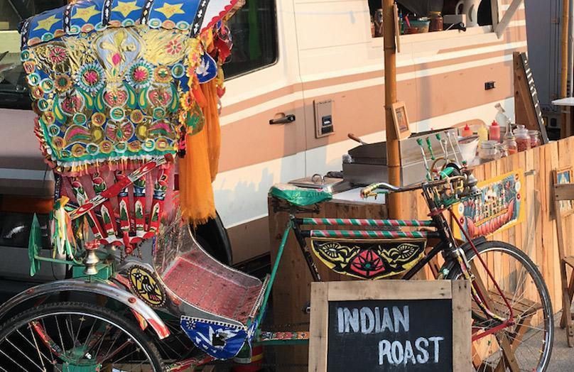 Frans over zijn Indian Roast Foodtruck