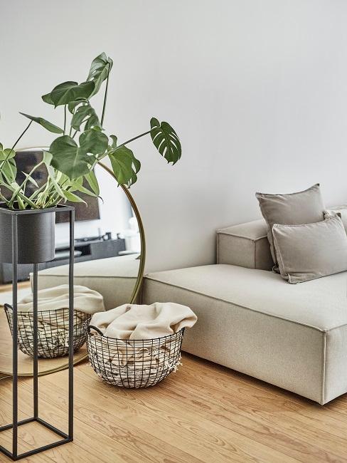 Aylin König Wohnzimmer Pflanze Korb Kissen