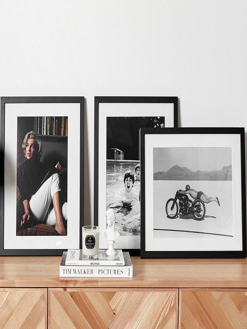 Alternativen zum Bilderrahmen Bilder Sideboard