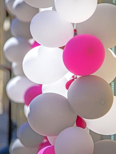 Palloncini bianchi e rosa