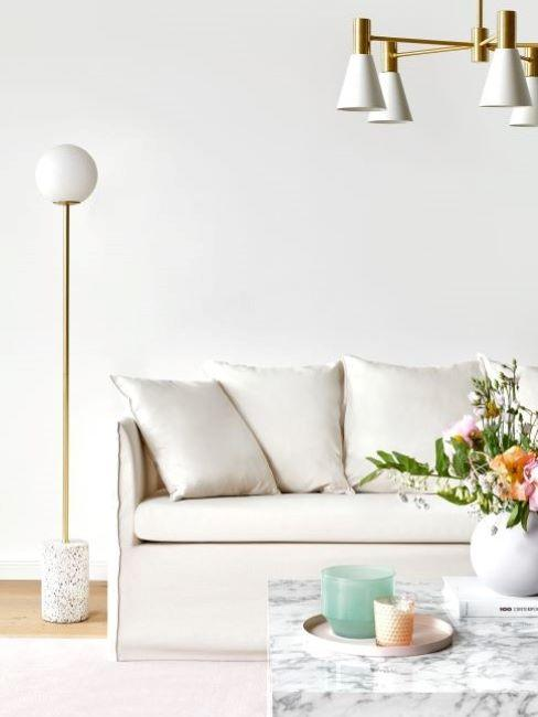 divano mila e tavolino in marmo
