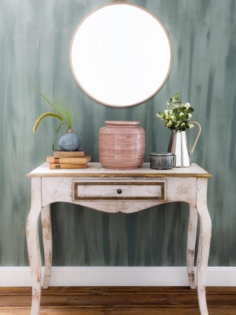 console vintage au look shabby chic