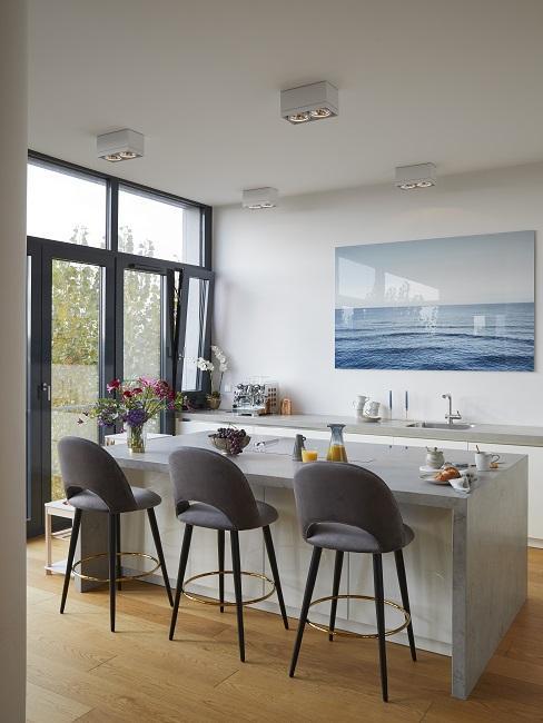 Küchen Design Ideen grau