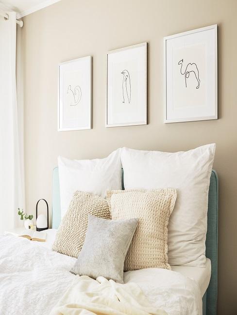 Wandgestaltung im Jugendzimmer mit Bildern