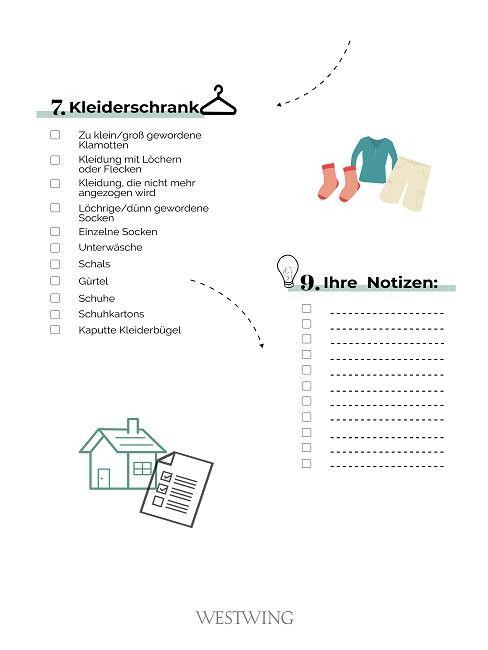 3. Teil der Checkliste zum Ausmisten