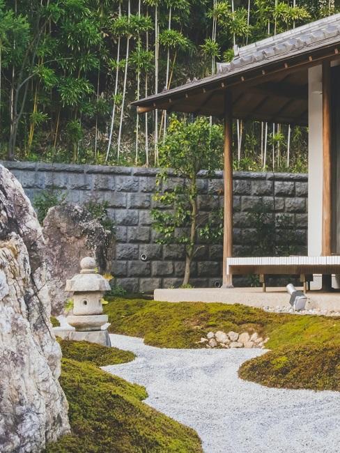 Zen Garten Weg Kies Stein