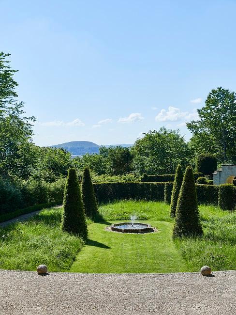 Wallerstein Gardens Brunnen Bäume