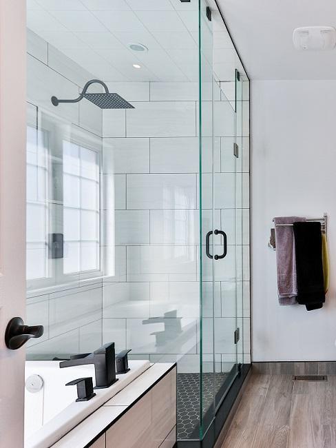 Walk-in-Dusche mit Glaswänden