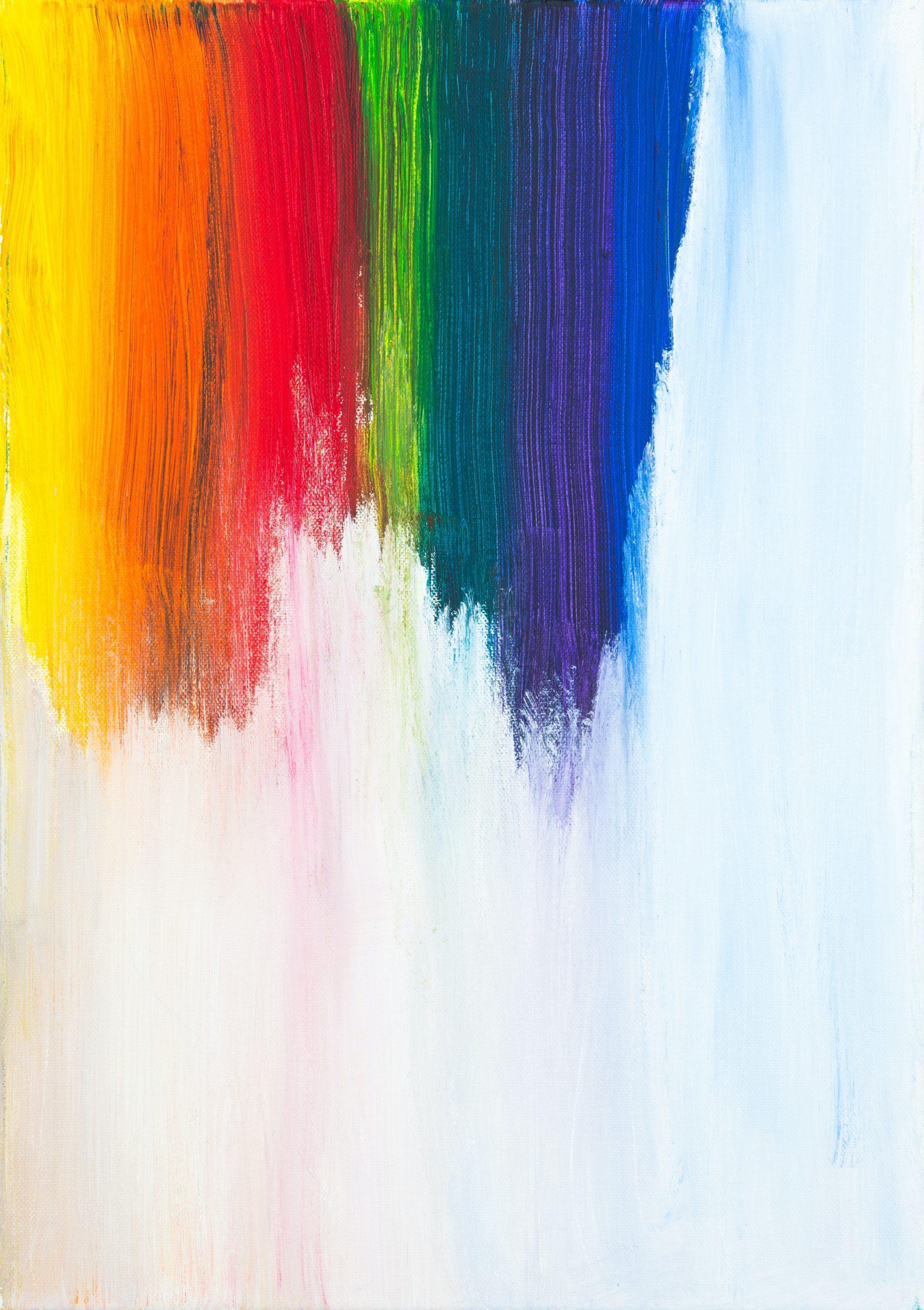Pared blanca pintada con colores