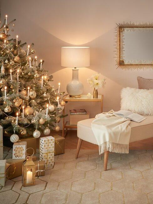 decoracion navideña dorada